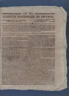 GAZETTE NATIONALE DE FRANCE 8 03 1796 - LIBERTE DE LA PRESSE - ASSIGNATS - FINANCES - EMPRUNT FORCE - - Zeitungen - Vor 1800