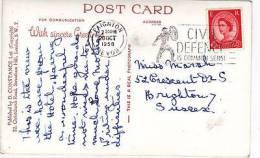 P/HISTORY - 1958 SLOGAN -CIVIL DEFENCE IS COMMON SENSE - Postmark Collection