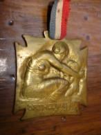Medaille  Plaquette Bronze Laiton Signé R Lalique Orphelinat Des Armées - Non Classificati