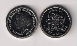 Jamaica 5 Dollars 1996. UNC KM#163 - Jamaica