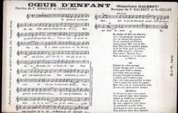CHANSON: PARTITION -COEUR D'ENFANT - Musique & Instruments