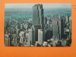 E1--etats Unis-center Buildings-midtown Skyline-with Rockefeller--1957 - Non Classés