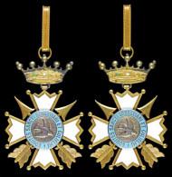 AG05005 Equites Sancti Sebastiani Et Gulielmi, Bronze, émail Blanc, Tir (Ag 46 G.) - Jetons & Médailles