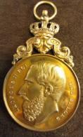 M01187 Tir Schot Schuss, Flèche D'or Grammont 1890 Et Léopold II Roi De Profil , Argent (34 G.) - Belgique