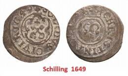 1649  Latvia Riga City. M.Titel Christians V.Schweden Schilling - Lettland