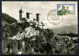 N° 1175 Sur Carte Maximum /  Château De Foix - Maximum Cards