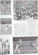 Rolland Garros   1933 Tennis     PHOTOS  LA GRANDE BRETAGNE GAGNE - Tennis