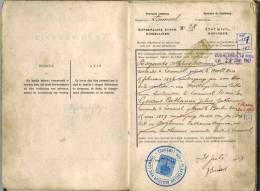 Huwelijksboekje Lommel 31 Juli 1908 Bogaerts-Geuens - Unclassified