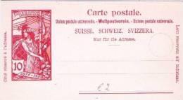 CH840/ UPU Jubilee  10 Rp.1900 - Entiers Postaux