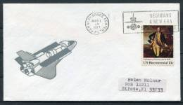 1977 USA Kennedy Space Centre Rocket Cover - Covers & Documents