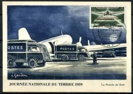 N° 1196 Sur Carte Maximum /  JT 1959, Aéropostale - Maximum Cards