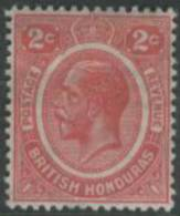 BRITISH HONDURAS 1922 2c KGV SG 128 HM HX38 - British Honduras (...-1970)