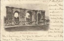 REIMS, PORTE MARS - ARC DE TRIOMPHE ROMAIN . PIONNIÈRE. SCAN R/V - Reims