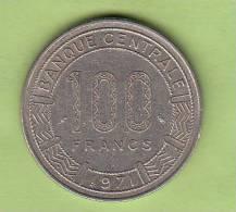 Pièce - Gabon - République Gabonaise  - 100 Francs - 1971 - Gabon