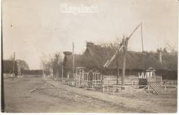 Rogatschi Montenegro(?), Village Street Scene, Crane For Peasant Industry(?) C1910s Vintage Real Photo Postcard - Montenegro