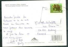 Carte Postale Du Canada Affranchie Pour La France Par Timbre De 1988 ( Ours )   - LL15309 - 1952-.... Règne D'Elizabeth II