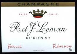 Champagne R. Et J. Leman - Brut - Réserve - Epernay - Champagne