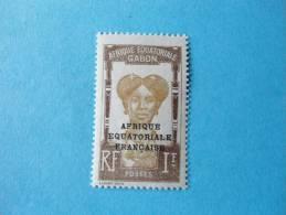 Gabon Poste Neuf ** N°105 Variété , Un Point Sur Le E De Equatoriale - Gabon (1886-1936)