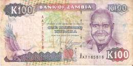 BILLETE DE ZAMBIA DE 100 KWACHA DEL AÑO 1991 (BANKNOTE) - Zambia