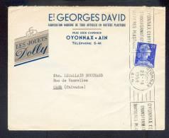 Enveloppe  1958 Jouets DOLLY Oyonnax Ain - Poststempel (Briefe)