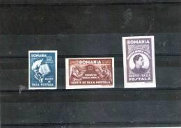 1947  TIMBRES DE FRANCHISE  Mi No XIIaB-XIIcB  Papier BLANCHE Non Dantele - Portofreiheit