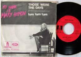 Mary HOPKIN  Paul Mc CARTNEY BEATLES SP 45T ODEON BIEM  Those Were The Days - Disco, Pop