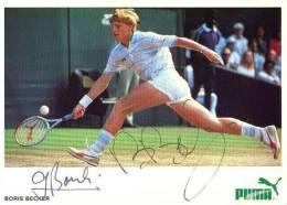 Boris Beckers. Tennista. Cartolina Autografata. Autografo Su Fotocartolina. - Personalità Sportive
