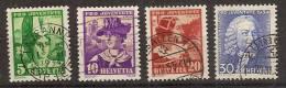 Suiza U  278/281 (o) Pro Juventute. 1934 - Usati