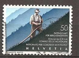 (B) - Schweiz 1990 - MI.NR. 1411 O - BERGBAUER - Berufe