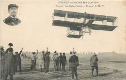 GRANDE SEMAINE D'AVIATION METROT SUR BIPLAN VOISIN - Piloten