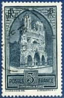 259c  Cathédrale De Reims Oblitéré  1929-31  263 FS - France