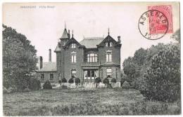 """""""ASSENEDE  Villa Cruyl"""" Verstuurd 1922 !!! Regio Gent / Evergem / Zelzate - Assenede"""