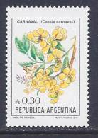 Argentina, Scott # 1522 MNH Flowers, 1987 - Argentina