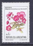 Argentina, Scott # 1524 MNH Flowers, 1987 - Argentina