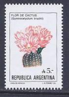 Argentina, Scott # 1526 MNH Flowers, 1987 - Argentina