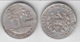 **** GUATEMALA - 5 CENTAVOS 1960 - ARGENT - SILVER **** EN ACHAT IMMEDIAT !!! - Guatemala