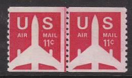 U.S. C82X2  Line Pair   ** - Air Mail