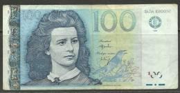 Estland Estonia Estonie  100 Krooni 1999 Banknote REPLACEMENT Note (seria ZZ) - Estonia