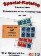 Katalog RICHTER DDR Teil 2 Markenheftchen 2013 Neu 25€ Heftchen Mit Abarten Booklet + Error Special Catalogue Of Germany - Livres, BD, Revues