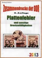 Katalog RICHTER DDR Teil 4 Plattenfehler ZD 2013 Neu 25€ Abarten Se-tenant And Blocs Error Special Catalogue Of Germany - Livres, BD, Revues