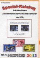 RICHTER Katalog Teil 1 DDR ZD 2013 Neu 25€ Varianten Zierfelder Leerfelder Ränder Se-tenant Special Catalogue Of Germany - Andere Sammlungen