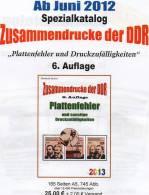 RICHTER Katalog Teil 4 DDR-Plattenfehler ZD 2013 Neu 25€ Abarten Se-tenant And Blocs Error Special Catalogue Of Germany - Andere Sammlungen