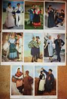 LOT 8 CPA - RONDE Des PROVINCES FRANCAISES - Loterie Nationale - Costumes, Danses - Vestuarios