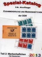 Spezial-Katalog DDR Teil 2 Markenheftchen 2013 Neu 25€ Heftchen Mit Abarten Booklet + Error Special Catalogue Of Germany - Vieux Papiers