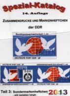 Spezial-Katalog DDR Teil 3 Sonder-Markenheftchen 2013 Neu 25€ SMH + Abart Booklet And Error Special Catalogue Of Germany - Vieux Papiers