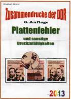 Spezial-Katalog DDR Teil 4 Plattenfehler ZD 2013 Neu 25€ Abarten Se-tenant And Blocs Error Special Catalogue Of Germany - Collections
