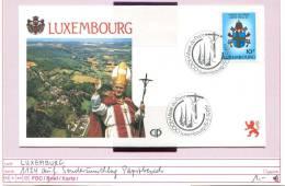 Luxemburg - Luxembourg - Michel 1124 Auf Sonderumschlag Papstbesuch 1985 - Luxembourg