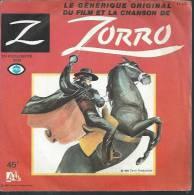 "45 Tours SP - Série TV "" ZORRO "" (  GUY WILLIAMS / HENRY CALVIN  ) - Soundtracks, Film Music"