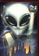 POSTCARD PROMOCARD ALIENO DESIGN LIBERO PATRIGNANI TEMATICA THEMATIC UFO ALIEN - Pubblicitari
