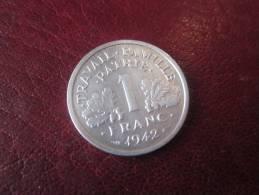 1 Franc FRANCISQUE - 1942 - SPL VOIR PHOTOS - H. 1 Franc